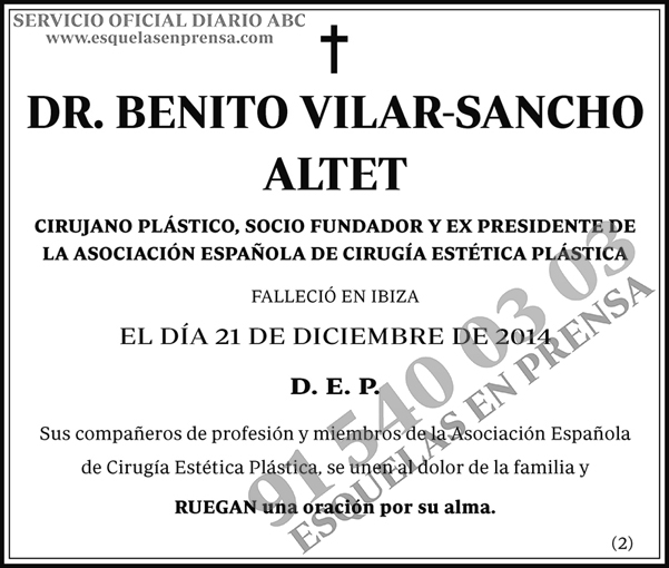 Benito Vilar-Sancho Altet